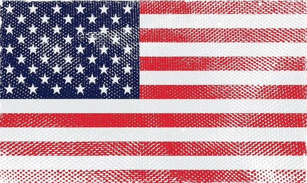 アメリカ合衆国の古いヴィンテージの旗