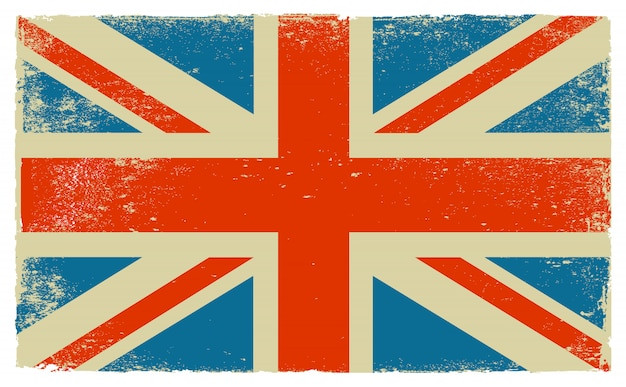 Old vintage flag of united kingdom