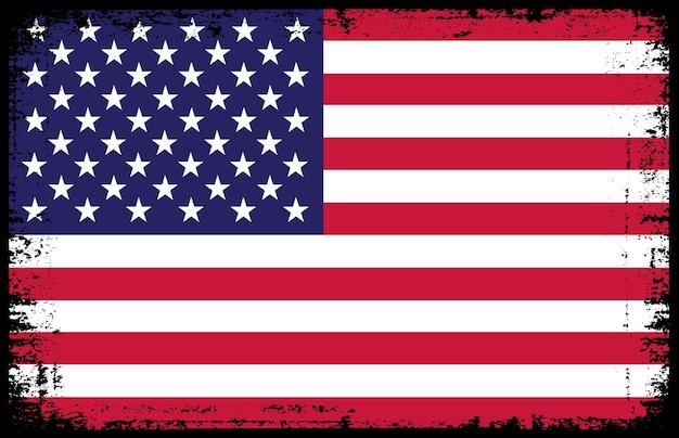 Old vintage flag of united states
