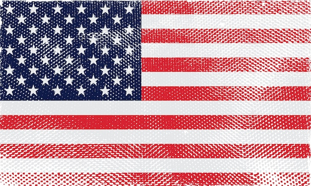 Old vintage flag of the united states