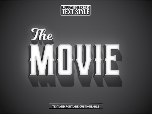 Old vintage movie text effect