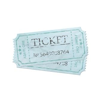 번호와 함께 오래 된 빈티지 종이 티켓.