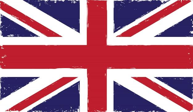 古いヴィンテージ英国の旗