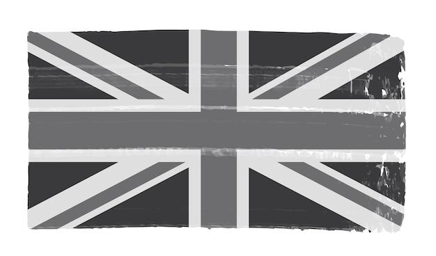 오래 된 빈티지 영국 국기