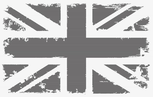 Старый старинный флаг соединенного королевства