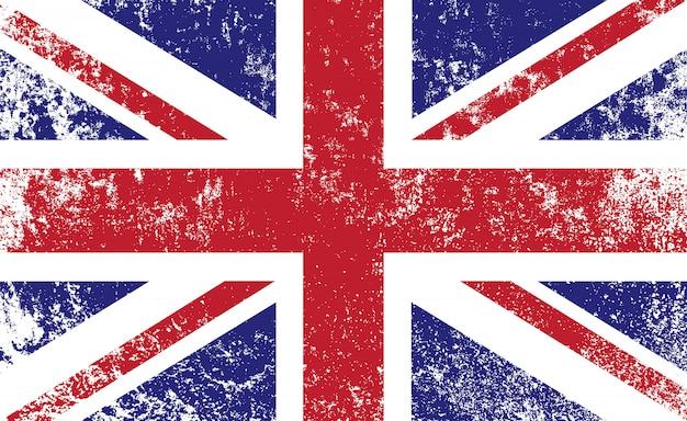 古いヴィンテージのイギリスの旗
