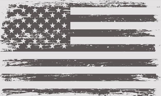 Old vintage usa flag