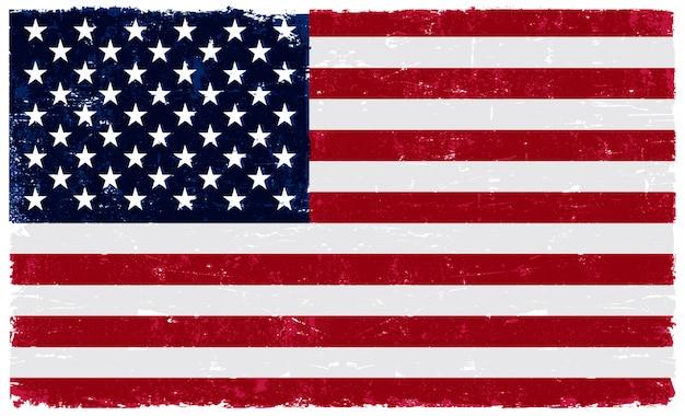 古いビンテージ米国旗