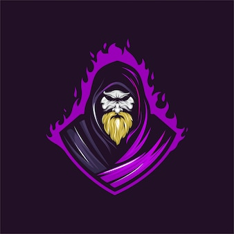 Old witch mascot logo