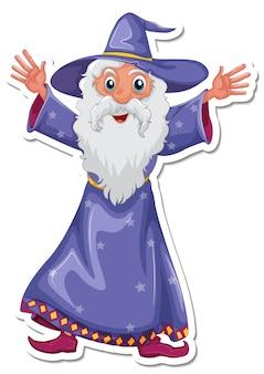 An old wizard cartoon character sticker