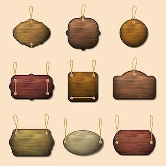 古い木製看板セット