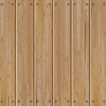 Old wooden vertical fence vector background