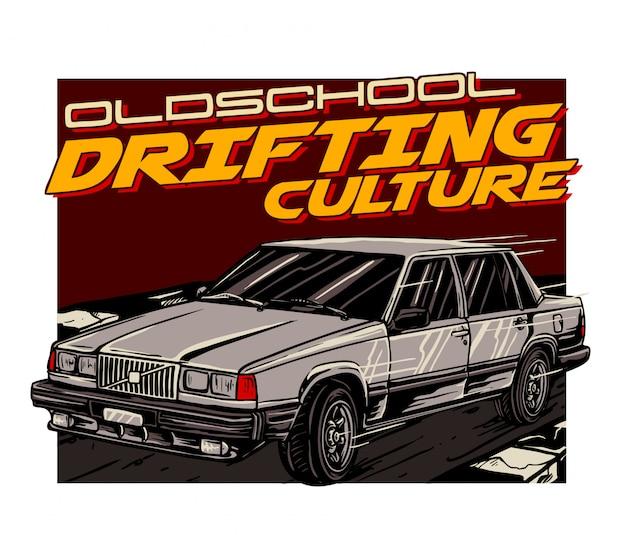Oldschool car drifting