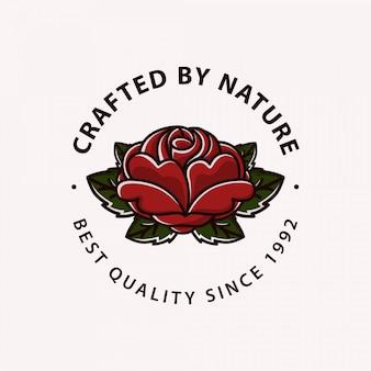 Oldschool rose logo