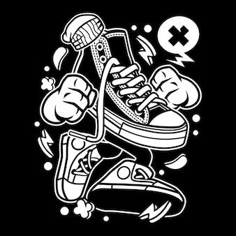 Oldschool Shoe Cartoon