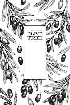 オリーブの枝のテンプレート。