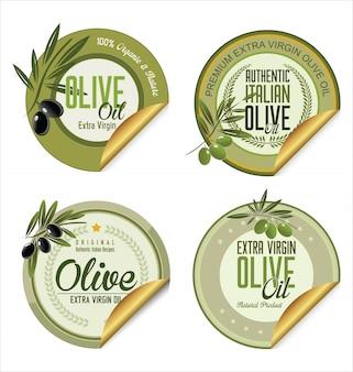 Olive golden labels