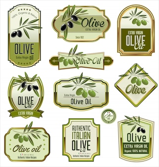 Olive golden labels
