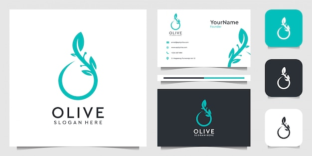 Olive logo   in organic style. suit for decoration, spa, yoga, brand, business, advertising, company, oil, and business card