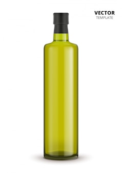 Olive oil bottle  isolated