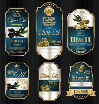 Olive oil golden labels