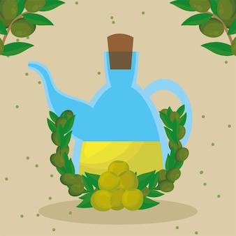 Рамка для оливкового масла и семена
