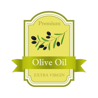 Olive oil label. elegant design for olive oil packaging.   illustration.