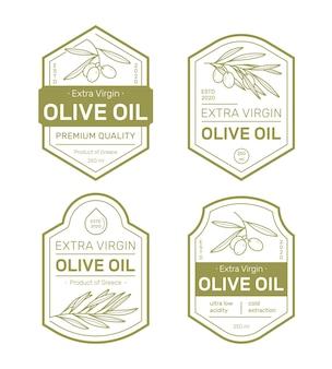 Набор этикеток оливкового масла.