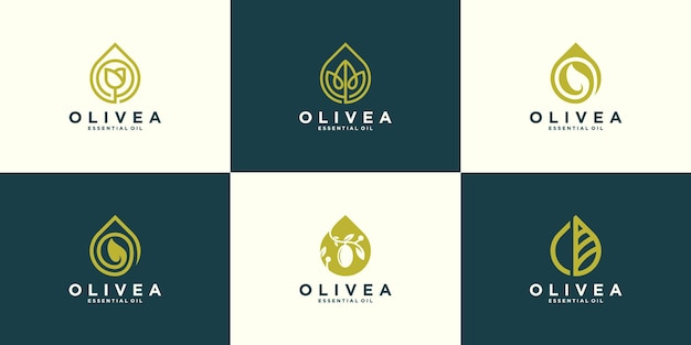 Olive oil logo collection design template
