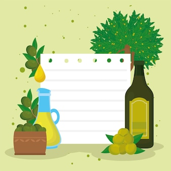Olive oil recipe and ingredients