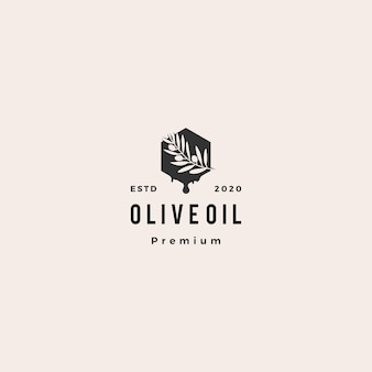 Olive oil tree branch logo hipster vintage retro  icon illustration
