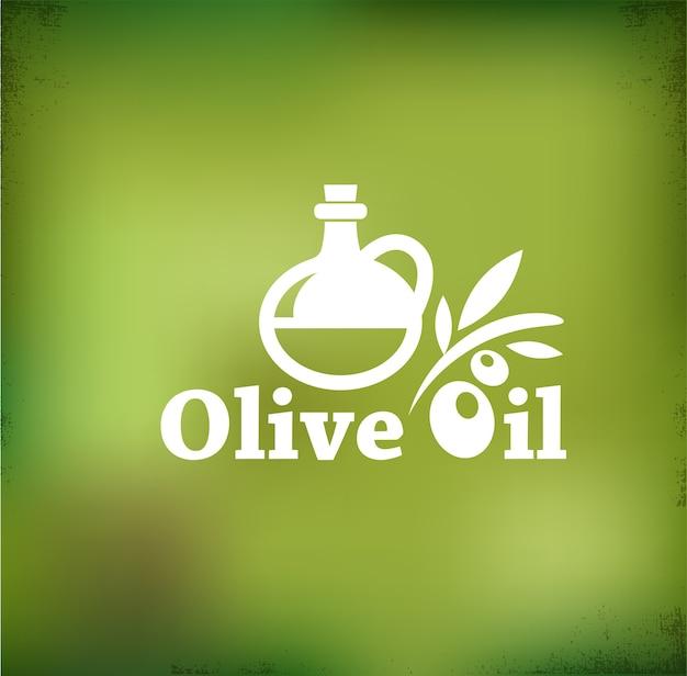 Винтажный фон с оливковым маслом
