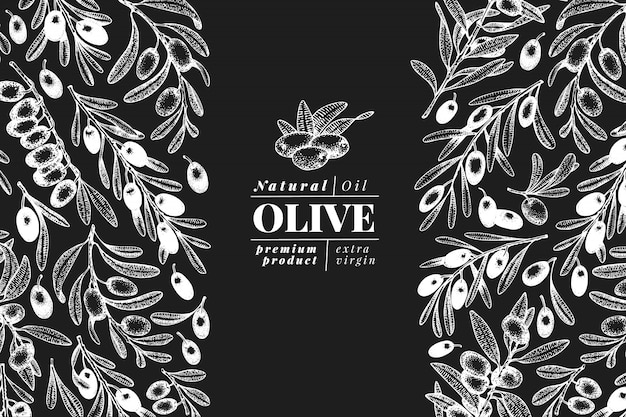 Olive tree banner template.