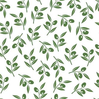 Struttura dei rami di olivo.