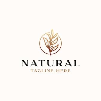 Шаблон логотипа золотой градиент оливкового дерева, изолированные на белом фоне