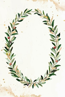 Vettore di elemento di design ghirlanda d'oliva