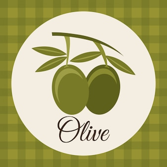 Olives design over green background vector illustration