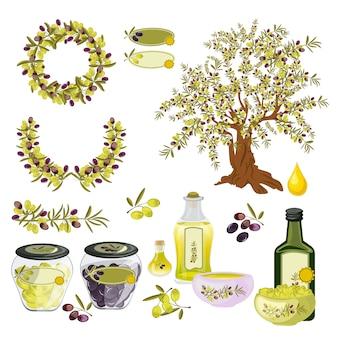 Olives oil nature organic food