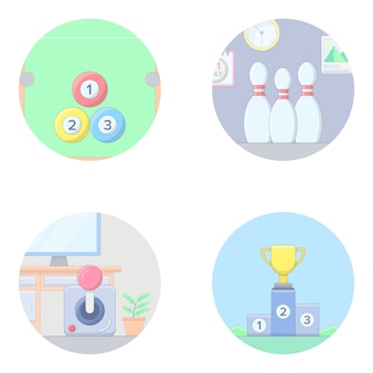 Olympic games flat icons