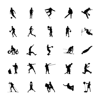 Olympic games silhouettes vectors pack