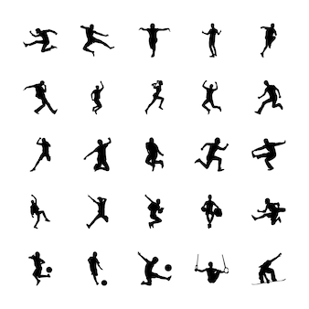 Olympic games silhouettes vectors set