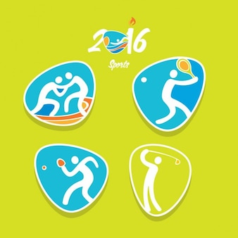 Olympic games sports in abstract style
