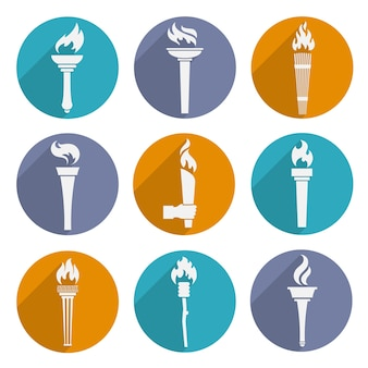 Olympic torch icons