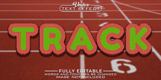 Olympic track editable text effect template