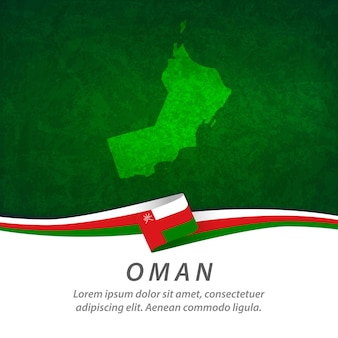 Флаг омана с центральной картой