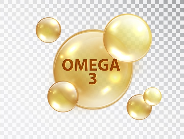 オメガ3ピル。ビタミンカプセル。