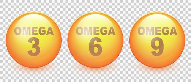 오메가 산 3 6 및 9 생선 기름 벡터