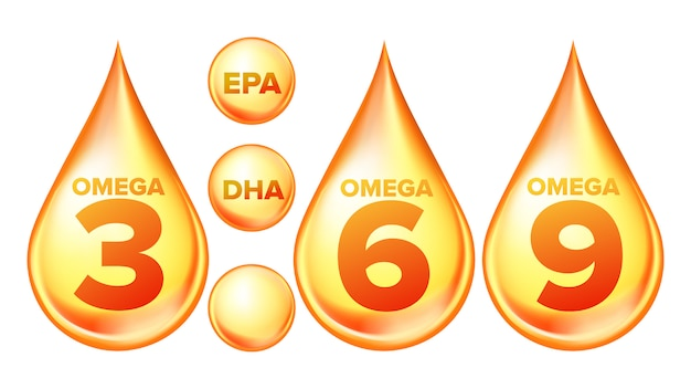 Omega fatty acid, epa, dha drops set