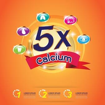 Кальций omega и витамины logo продукты для детей vector