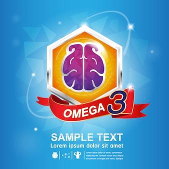 Omega nutrition and vitamin - concept logo продукты для детей.